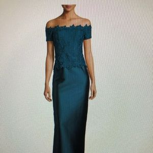 Rickie Freeman for Teri Jon Off the Shoulder Gown